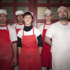 Portrait of Albana and her bakers in Sofia, Bulgaria